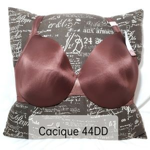 Cacique Brown Lightly Lined Full Coverage Bra